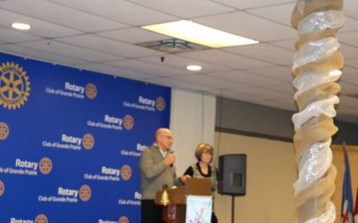 President Elect Tyla Savard addressed today's Meeting. Guest Speakers – Darrel Bekkerus and Debbie…