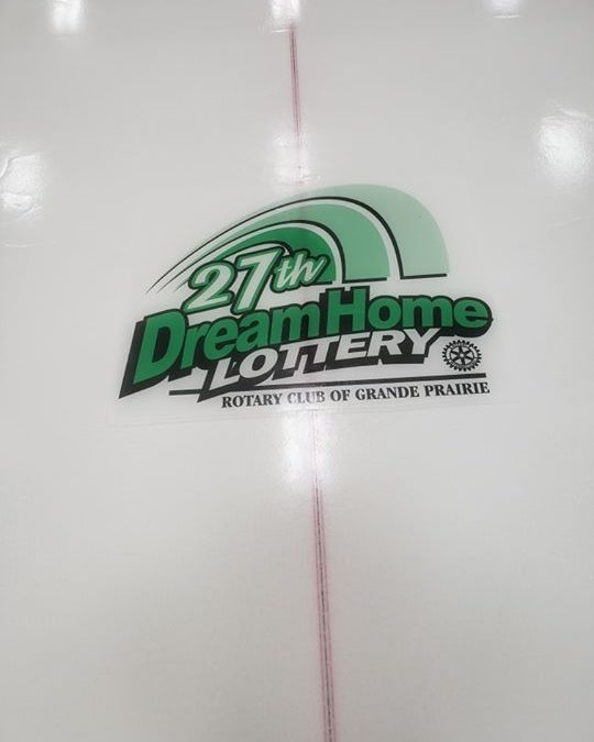Look for the Dream Home logo on the ice at sheet 6, Grande Prairie…