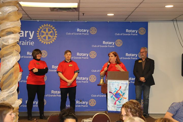 Rotary Club of Grande Prairie Presents a Cheque of $50000 to Grande Prairie Curling…