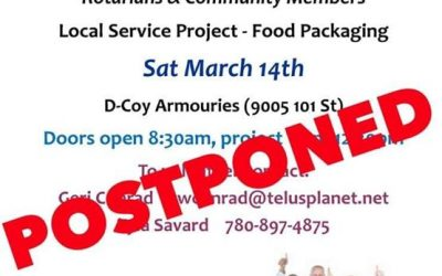 Rotary Day fun that was taking place this weekend has been postponed due to…