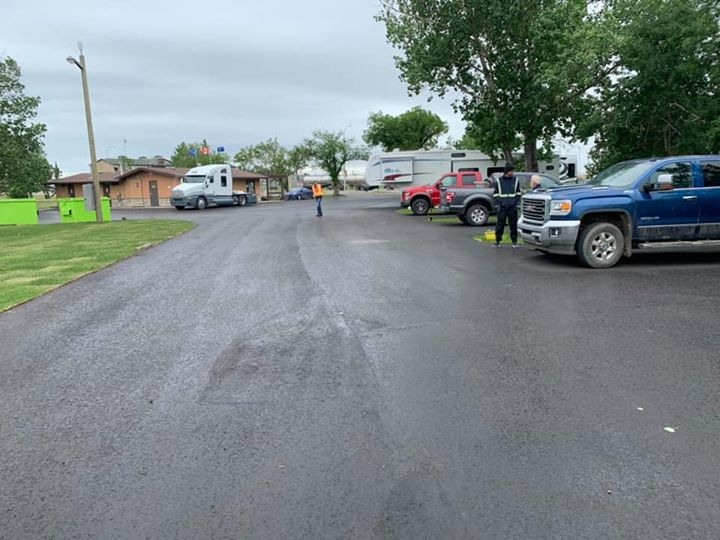 Final inspection complete, new pavement looks great at the Rotary Campground! Thanks to Mother…