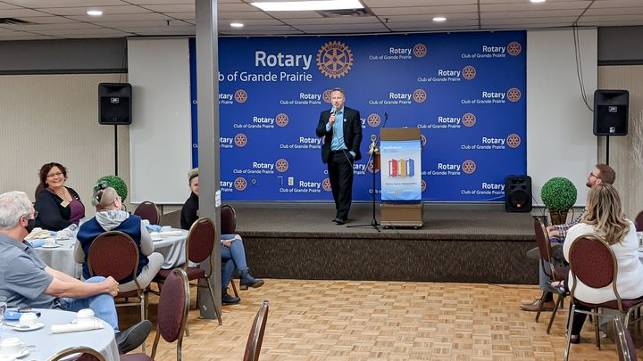At our September 25 meeting Lionel Frey fellow Rotarian and Manager of the Prairie…