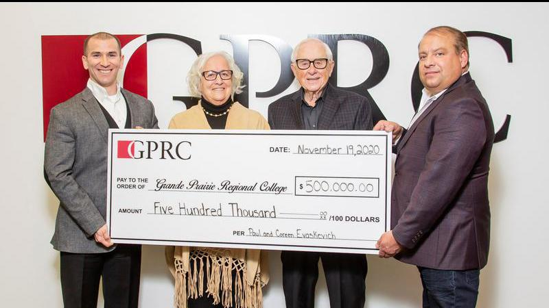 A local man says a long-time involvement with Grande Prairie Regional College led to…