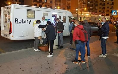 Italian Rotary members through a partnership between the Rotary Club of Palermo, the Associazione…