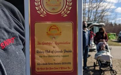 On Saturday Giandeep presented the club with a thank you plaque from the Khwahish…
